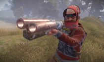 Rust double barreled shotgun