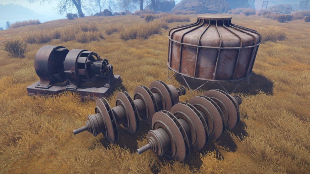 Rust industrial props