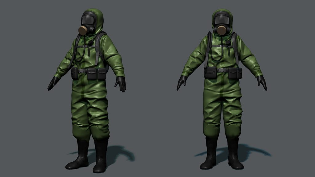 Rust hazmat suit